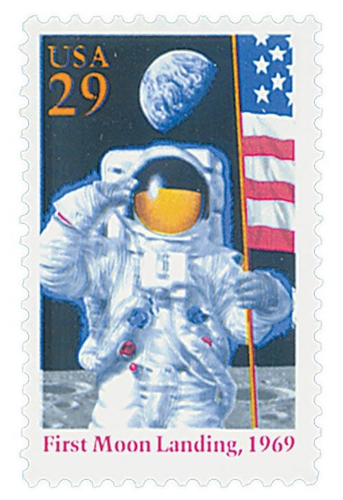 1994 29c Moon Landing,single