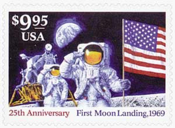 1994 $9.95 First Moon Landing, Express Mail stamp