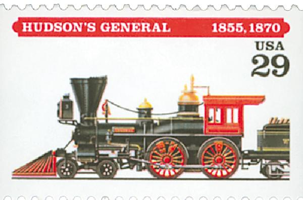 1994 29c Locomotives: Hudson's General