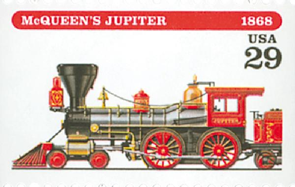 1994 29c Locomotives: McQueen's Jupiter