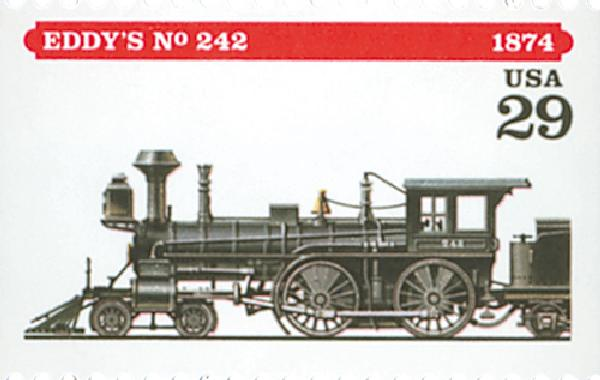 1994 29c Locomotives: Eddy's #242