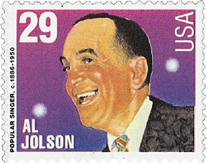 1994 29c Popular Singers: Al Jolson