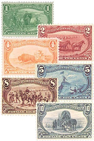 1898 1c-$2 Trans-Mississippi Exposition Issue, Set of 6 Stamps