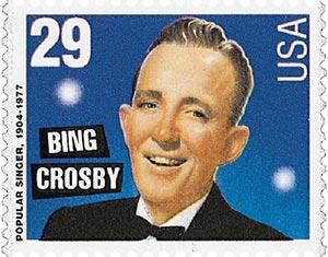 1994 29c Popular Singers: Bing Crosby