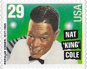 "1994 29c Popular Singers: Nat ""King"" Cole"