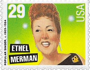 1994 29c Popular Singers: Ethel Merman