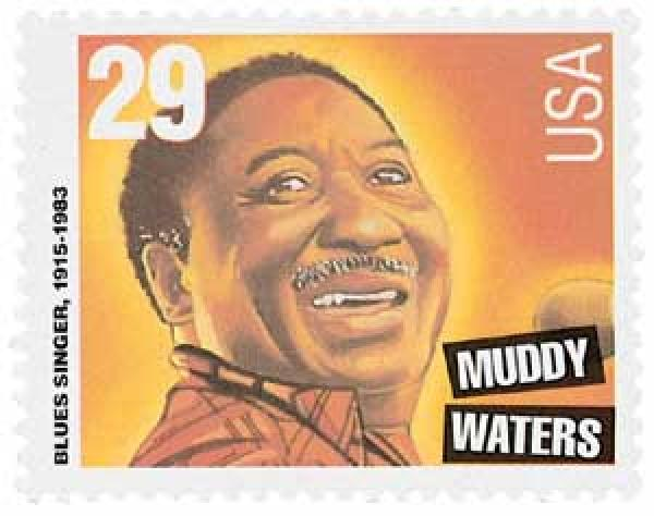 1994 29c Blues and Jazz Singers: Muddy Waters