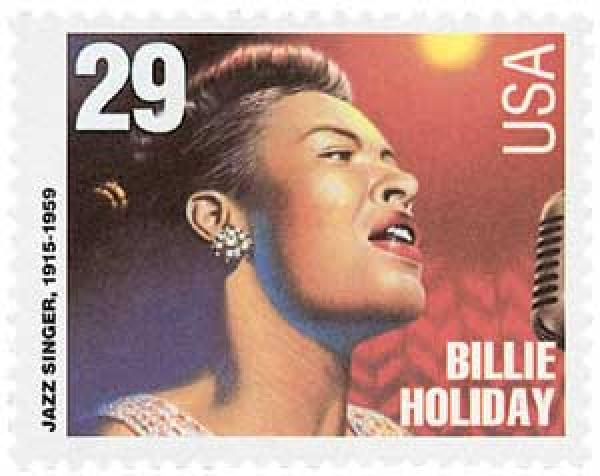 1994 29c Blues and Jazz Singers: Billie Holiday