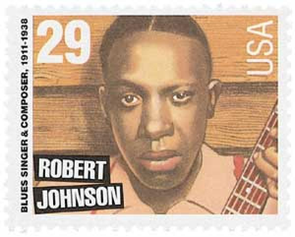1994 29c Blues and Jazz Singers: Robert Johnson