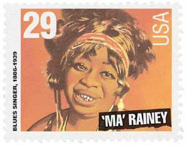 "1994 29c Blues and Jazz Singers: ""Ma"" Rainey"