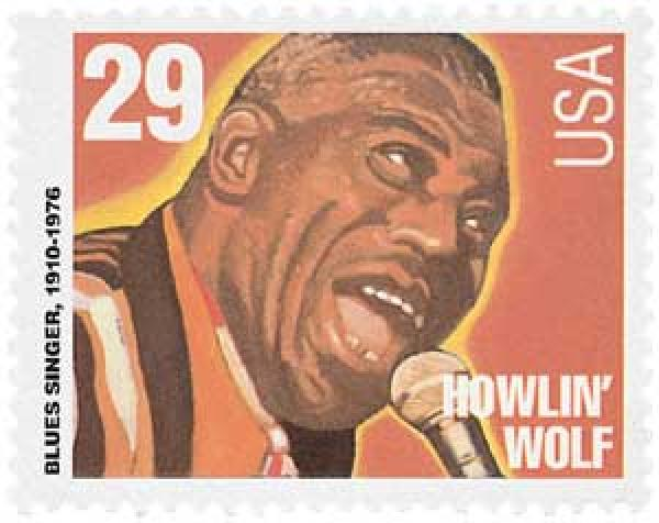 1994 29c Blues and Jazz Singers: Howlin Wolf