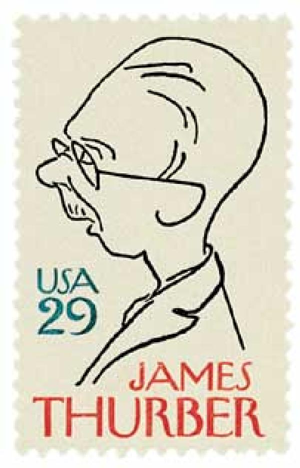1994 29c Literary Arts: James Thurber