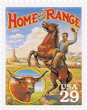 1994 29c Legends of the West: Home on The Range