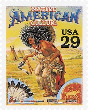 1994 29c Legends of the West: Native American Culture