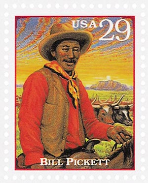 1994 29c Legends of the West: Bill Pickett
