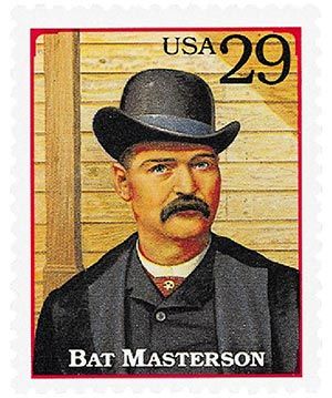 1994 29c Legends of the West: Bat Masterson