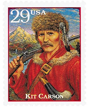 1994 29c Legends of the West: Kit Carson