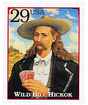 1994 29c Legends of the West: Wild Bill Hickock