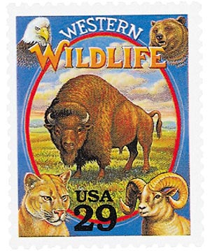 1994 29c Legends of the West: Western Wildlife
