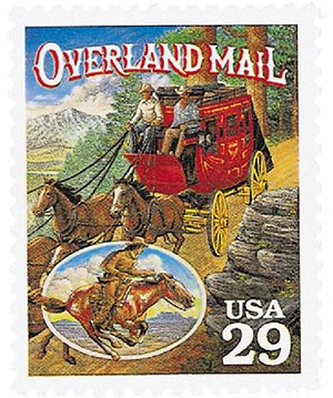 1994 29c Legends of the West: Overland Mail