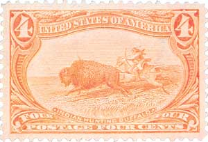 1898 4c Indian Hunting Buffalo