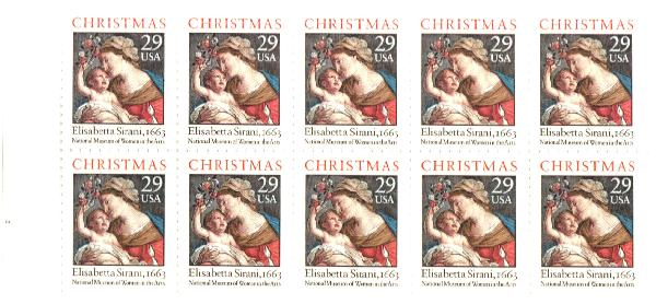 1994 29c Madonna and Child bklt pane(10)