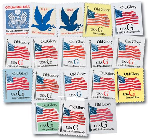 1995 G-rate Series, set of 18 stamps