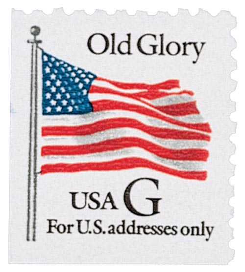 "1994 32c G-rate Old Glory, black ""G"", booklet single"
