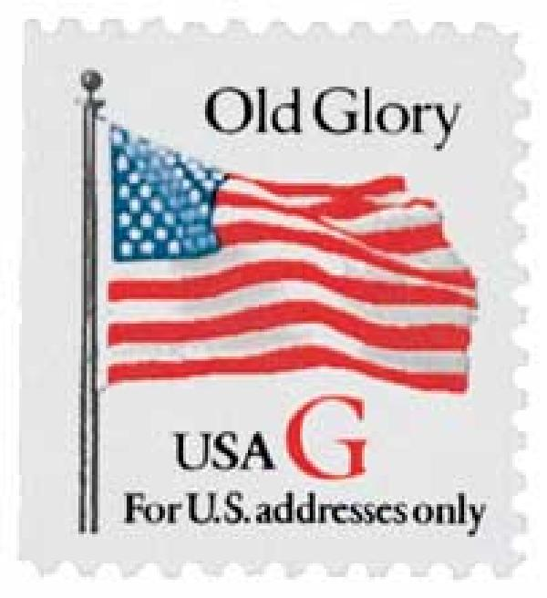 "1994 32c G-rate Old Glory, red ""G"", booklet single"