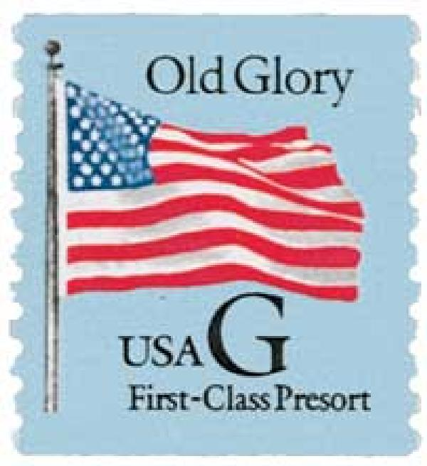 1994 25c G-rate Old Glory, coil