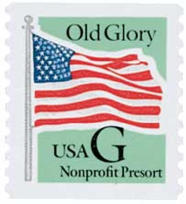 1995 5c G-rate Old Glory, Non-profit