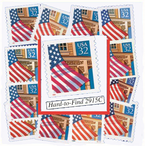 1995-97 Flag Over Porch, set of 13 stamps