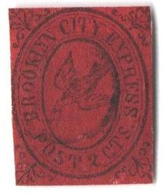 1855-64 2c black, crimson