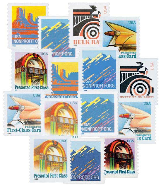 1995-97 Definitives, set of 15 stamps