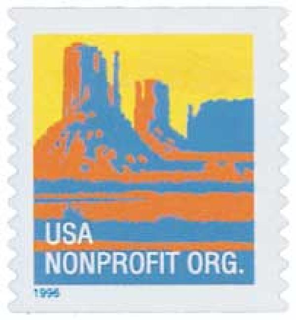 1996 5c Butte, non-denominational, self-adhesive coil stamp