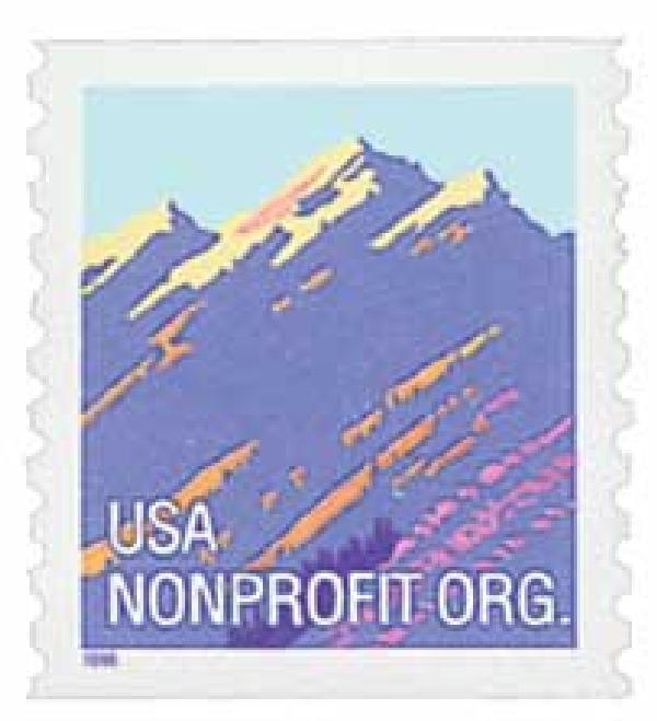 1996 5c Mountain, non-denom, BEP coil