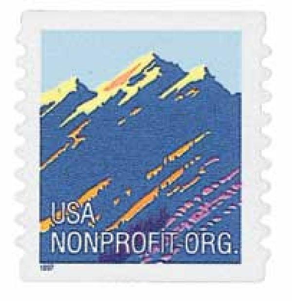 1997 5c Mountain, non-denominational, self-adhesive coil stamp