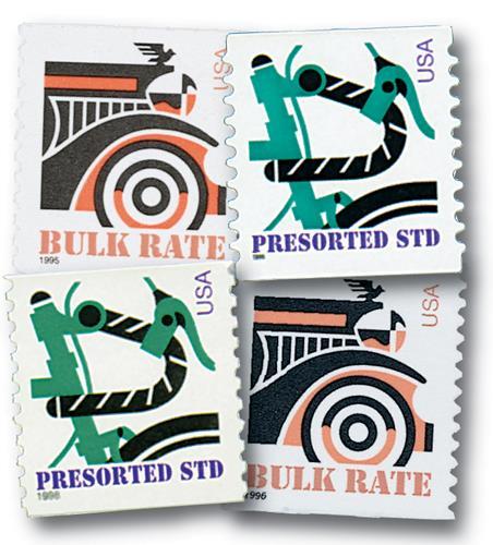 1995-98 American Transportation, set of 4 stamps