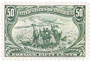 1898 50c Trans-Mississippi Exposition: Western Mining Prospector