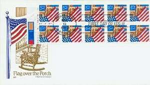 1996 Flag Over Porch Booklet Pane - Red
