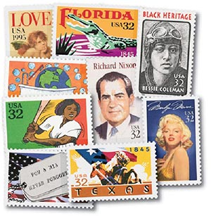 1995 Commemoratives, set of 20 stamps