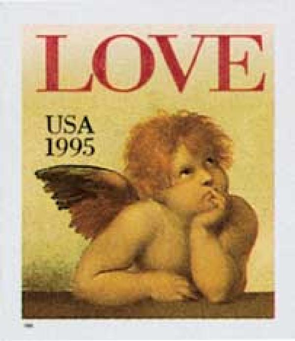 1995 32c Love Series: Cherub, booklet single