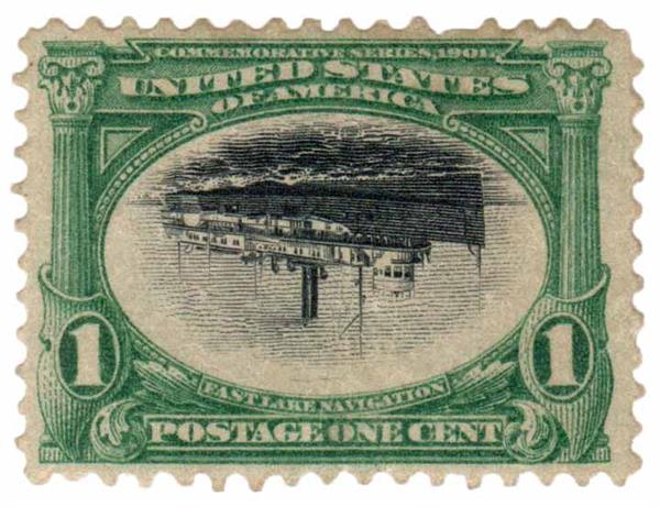 1901 1c Pan-American Exposition: Fast Lake Navigation Invert