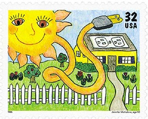 1995 32c Kids Care About the Environment: Solar Energy