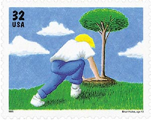 1995 32c Kids Care About the Environment: Tree Planting