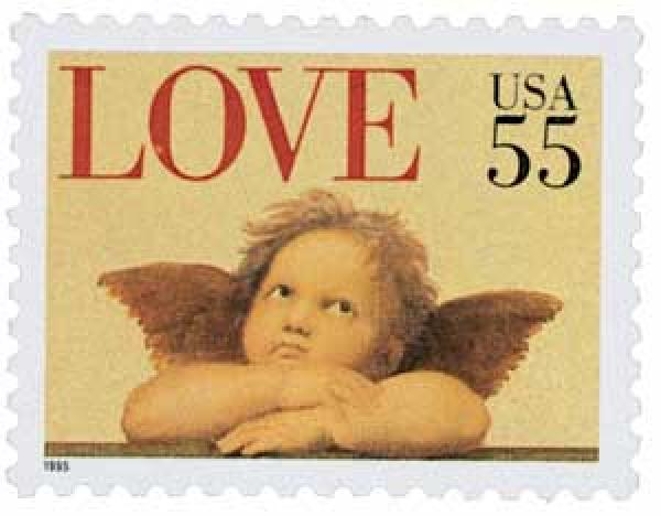 1995 55c Love Series: Cherub