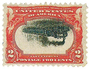 1901 1c Pan-American Exposition 'Empire State Express' Invert
