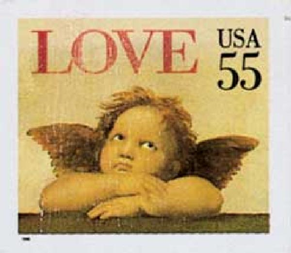 1995 55c Angel,self-adh,single