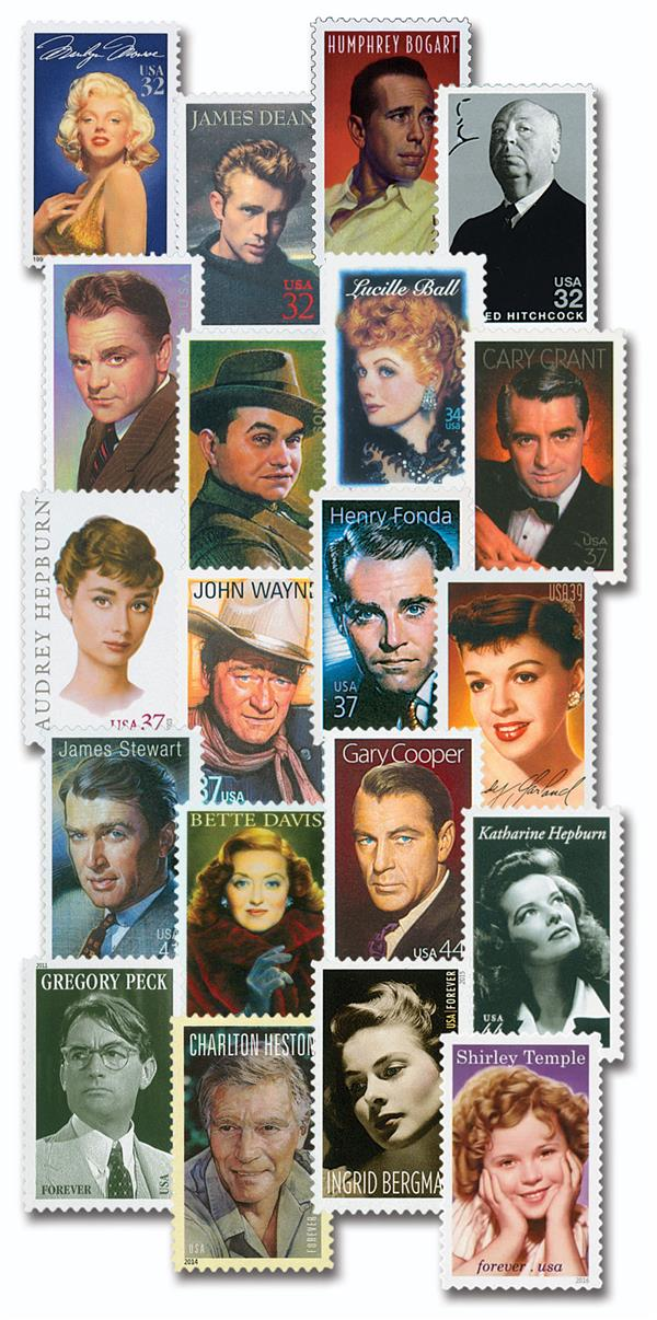 Complete Set - 1995-2016 Legends of Hollywood Collection, 20 stamps