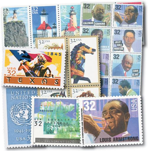 1995 Commemoratives, set of 23 stamps